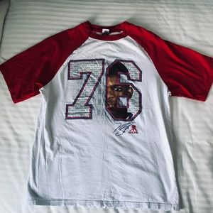 NHL - White PK Subban t-shirt with red sleeves - M